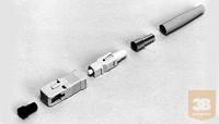 AMP SC csatlakozó MM, simplex, 3mm bézs törésgátló (5503948-2)