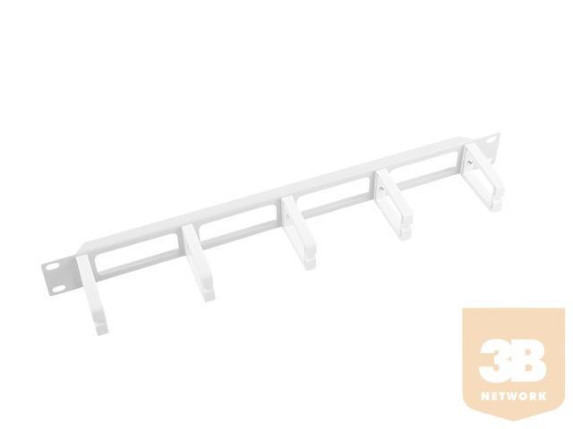 Lanberg kabelrendező 1U B típusú 19'' rack szekrényhez szürke