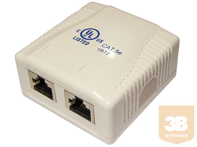 2 portos Cat5e FTP falon kívüli aljzat