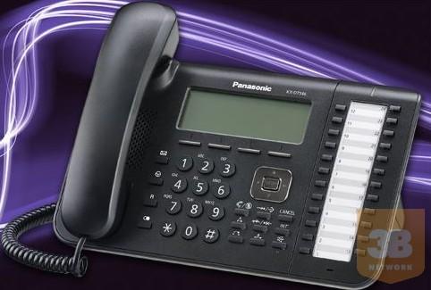 Panasonic KX-DT546X, digit rendszertelefon, 6 soros, háttérvil, 24 gomb, headset, full duplex